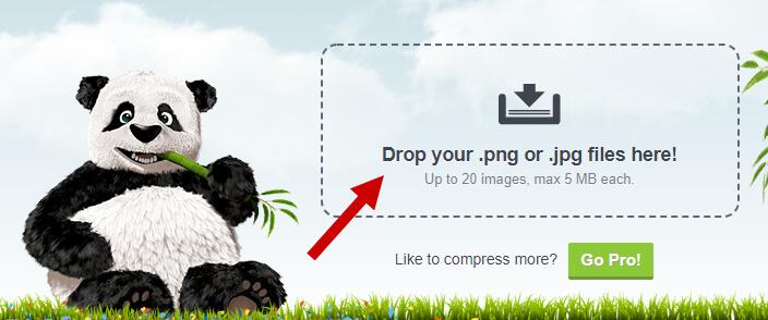 Ladda upp och komprimera dina webbilder