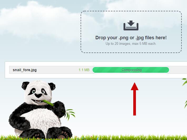 Komprimera webbilder